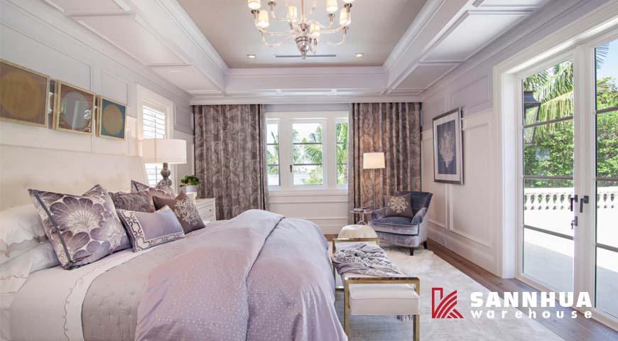 Trang trí không gian nội thất dể dàng với màu tím hồng Lilac